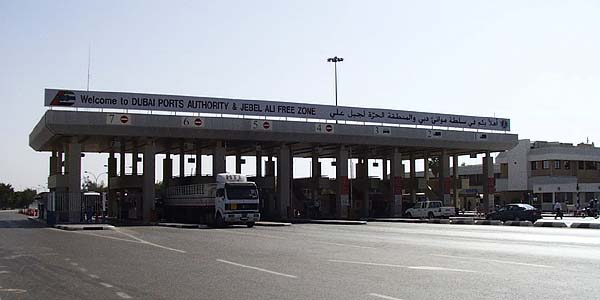 На КПП Jebel Ali Free Zone